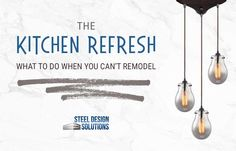 Sometimes a true remodel project is out of your reach, but your kitchen can still feel new with these kitchen refresh ideas from Steel Design Solutions!