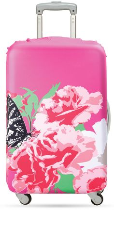 LOQI – Luggage Cover – Prima – Carnation