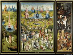 Hieronimus Bosch - Garden of Earthly Delights. A friend recommended me to view this artwork. When I first saw it in Prado museum, I could not help but stay there and observe it for about 30 minutes. Bosch is full of mystery and symbols. Later on I bought a book about his works. He's my favorite painter of the 15th century.