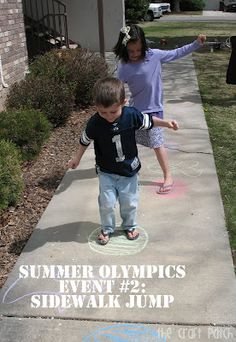 cute Summer Olympics idea for kids at home
