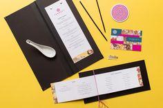 Menus, coasters and gift certificates for Dallas based ramen restaurant Tanoshii designed by Mast