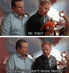 Modern Family and Nemo ♥ Modern Family Memes, Tv Shows Funny, Funny Memes, Hilarious, Tv Show Quotes, Movie Quotes, Family Love, Best Tv, Favorite Tv Shows