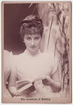 Rachel Countess of Dudley [Gurney], 1867-1920. Married William Humble Ward, 2nd Earl of Dudley on the 14th September 1891.