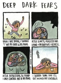 Hang in there. An anonymous fear submitted to Deep Dark Fears -. Creepy Stories, Horror Stories, Ghost Stories, Horror Comics, Funny Comics, Fear Book, Deep Dark Fears, Depression Kills, Dark Comics
