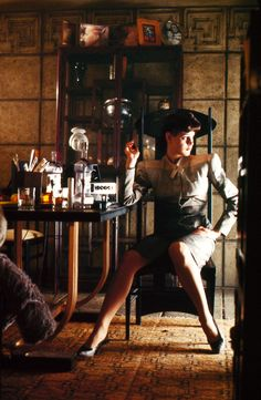 "Sean Young in director Ridley Scott's ""Blade Runner"" (1982)"