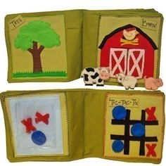 Barn quiet book page - would be fun to have the barn doors open.