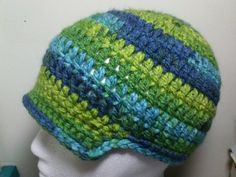 Brimmed Hat For 6-9 Months | AllInADaysWork - Crochet on ArtFire - $12.50