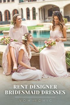 Getting married in 2017? Save your bridal party money by renting designer bridesmaid dresses, starting at just $79. Our rental collection features today's most popular styles, colors and designers, including Jenny Yoo, Monique Lhuillier and many more! Sign up for a complimentary consultation with a Bridal Stylist today!