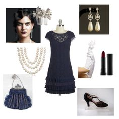 This look would be right at home at Gatsby's place. Great deco look for the Retro Prom fashion mission
