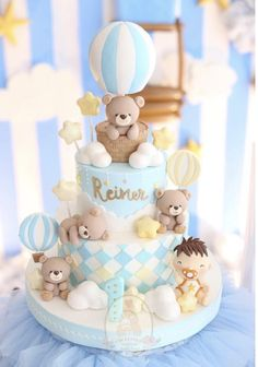 Ideas for baby boy birthday cupcakes Deco Baby Shower, Torta Baby Shower, Baby Shower Balloons, Baby Shower Themes, Baby Boy Shower, Baby Balloon, Baby Boy Birthday Cake, Baby Boy Cakes, Birthday Cupcakes