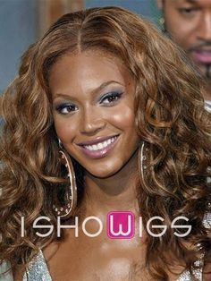 #Beyonce #Knowles #celebrity #wig #hairstyle #long #brown #wavy #lacefront #synthetic #hair