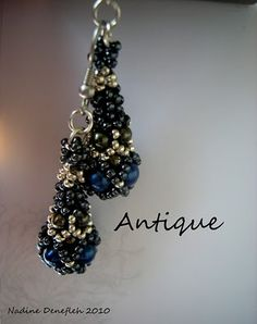 My new Pattern, Meine neue Anleitung Ohrringe Antique   Nadine Denefleh Design´s and other Beadstyle´s