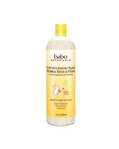 Babo's Moisturizing Bubble Bath & Wash provides gently scented bubbles for extra sensitive skin. Contains Oatmilk and Organic Calendula to help  relieve eczema and soothe dry skin. Carefully formulated for very sensitive skin.