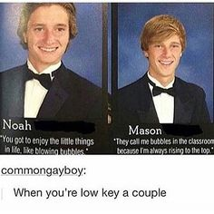 Hahahahahahahahahahahaha>>>>this might be funny if they didn't look disturbingly like brothers. Funny Yearbook Quotes, Funny Memes, Jokes, Funny Senior Quotes, Graduation Quotes Funny, Yearbook Photos, Funny Cute, The Funny, Stupid Funny