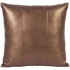 """Howard Elliott Shimmer Bronze 16"""" x 16"""" Pillow 1-294"""