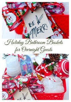 I created a Bathroom Basket for my holiday guests and stocked up on Quilted Northern. (AD)