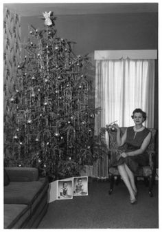 vintage christmas tree 1950s - is it time for cocktails?