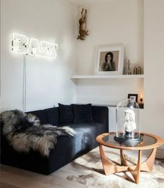 neon lights living room