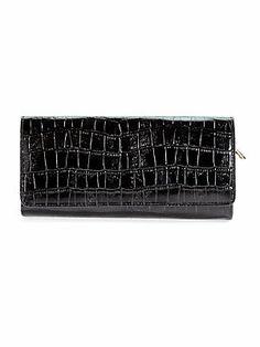 Nicolette Croc-Embossed Leather Wallet