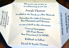Bar Mitzvah Bat Mitzvah Invitation Favor by DesignsByTenisha, $10.00