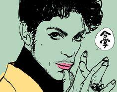 追悼 プリンスさん #似顔絵 #イラスト #プリンス #caricature #illustration #Prince #drawing
