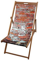 Brick Wall Deck Chair