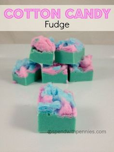 Cotton Candy Fudge recipe. This is super easy to make and brings out the kids in everyone!
