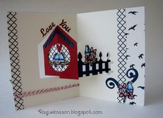 Raquel Mason using the Pop it Ups House Pivot Card die by Karen Burniston for Elizabeth Craft Designs. (House Pivot Card starts shipping to stores 4/15/14) - Raquel's Stampin' Blog