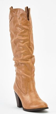 Womens Ladies Tan Faux Leather Mid Block Heel Knee High Boots Size UK 4,5 New  #boots #tan #kneehighboots #kneeboots #blockheel #midheel #fauxleather #ruched #pullon #winter #casual #shopping #style #fashion #footwear #forsale #womens #womensfashion #ladies #ebay #ebayseller #ebayshop #ebaystore
