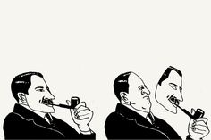bob gill, illustration about how smoking a pipe improves one's image.