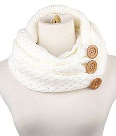 0927f7855210d 2017 Real Top Sales Winter Warm Two Circle Cable Knit Cowl Neck Scarf scarf  winter Wool Blend White Black scarf women cuello