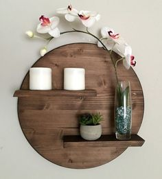 17 Remarkable DIY Round Shelf Designs To Adorn Your Empty Walls is part of Diy wall decor - Minimalism is rightly extremely popular style in interior, especially if you consider the simplicity and purity while decorative elements that we have Home Decor Accessories, Decorative Accessories, Diy Wall Decor, Diy Home Decor, Wall Decorations, Diy Decorations For Home, Wall Decor Design, Foyer Design, Living Room Decor