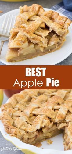 This easy apple pie recipe has a flaky, buttery pie crust and a sweet homemade apple pie filling. You are going to love this scrumptious pie from scratch! Classic Apple Pie Recipe, Apple Pie Recipe Easy, Homemade Apple Pie Filling, Best Apple Pie, Easy Pie Recipes, Apple Pie Recipes, Sweet Recipes, Perfect Apple Pie, Pillsbury Crust Apple Pie Recipe