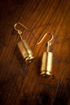 Simply had to pin...great altered jewelry...40 Caliber Shell Drop Earrings