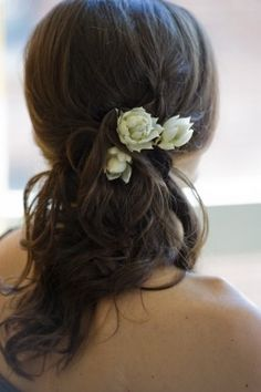 maybe a little more definition with the curl? the side gathering with flowers like you asked for :-)