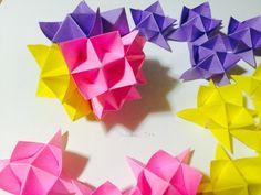 How to make an Origami Spike Ball.     折り紙 スパイクボール