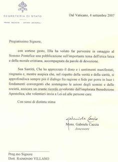 Lettera Santo Padre