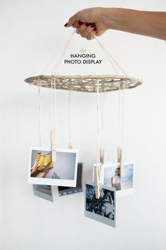 DIY Hanging Photo Mobile Display
