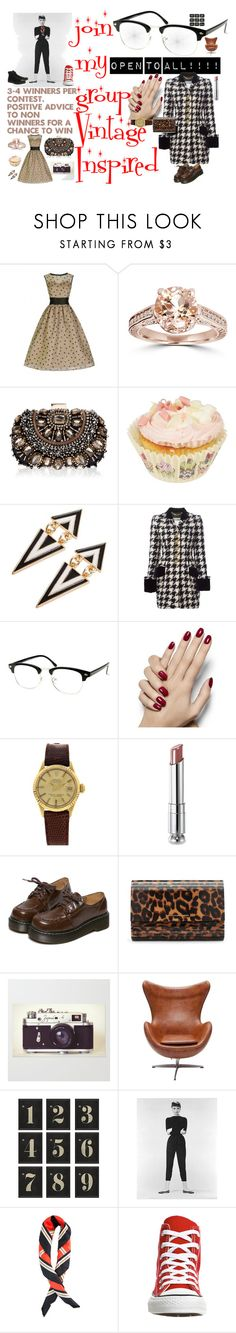 """Join my group Vintage inspired"" by nisha-boo ❤ liked on Polyvore featuring moda, Lipsy, Moschino, Rolex, Christian Dior, WithChic, Diane Von Furstenberg, Ballard Designs, Converse y vintage"