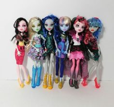 Monster High Doll Lot with Space Pop dolls, Accessories , Pets and Doll stands