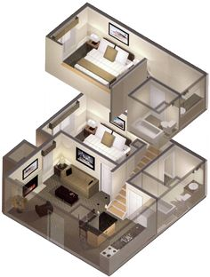 two bedroom floor plan apartment | design ideas 2017-2018