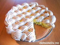 Norwegian Food, Pudding Desserts, Recipe Boards, Let Them Eat Cake, Food And Drink, Pie, Sweets, Recipes, Torte