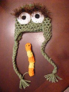 crochet newborn photo props | / Newborn photo prop baby Oscar the Grouch Crochet Hat photo props ...