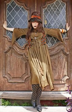 Rare Theda Bara Style Arts n Crafts Nouveau dress by BoudoirQueen, $775.00