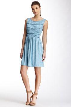 Max Studio Sleeveless Smocked Slub Knit Dress by Max Studio on @HauteLook