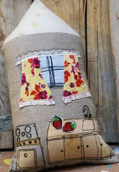 House pillow my lovely Kitchen by LeiLiLaLoo on Etsy, $55.00