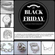 En www.capricciplata.com ya estamos preparando el #Blackfriday !!! No te lo pierdas!!! También puedes visitarnos en  http://www.facebook.com/capricci.plata1  #pulseras #anillos #pendientes #joyas #plata #moda #fashion #girls #woman #tendencia #style #shoppingonline