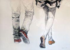 pareja, desenho, dibujar, dibujo, los niños y niñas - en la imagen inspiradora Favim.com