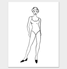 Printable Outline Of Female Body Shape Template Shapes