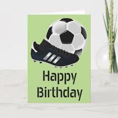 Football Theme Birthday, Soccer Theme, Man Birthday, Homemade Birthday Cards, Birthday Cards For Men, Soccer Boots, Football Cards, Baseball Cards, Sports Baseball